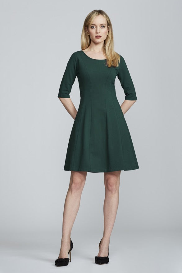 Lizette Dress - Mallard Green