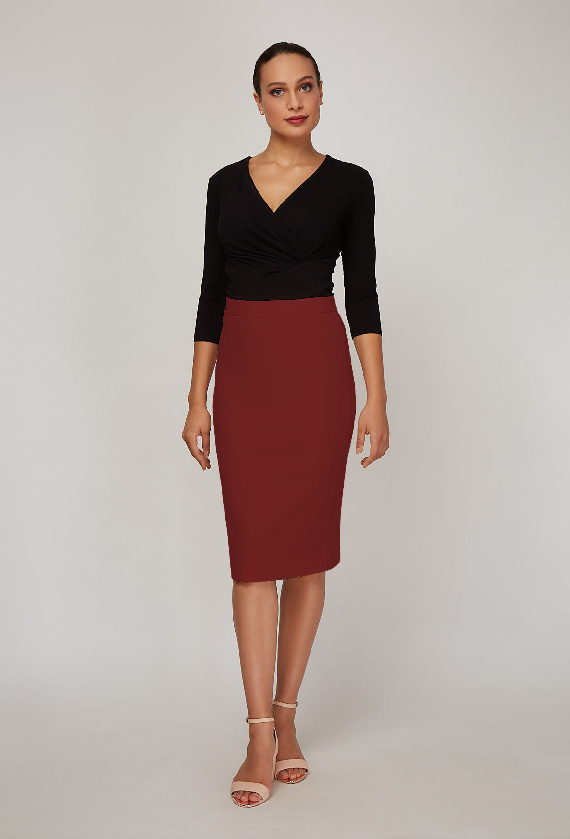 Women's Rita Skirt in Fire Brick | Nora Gardner Front