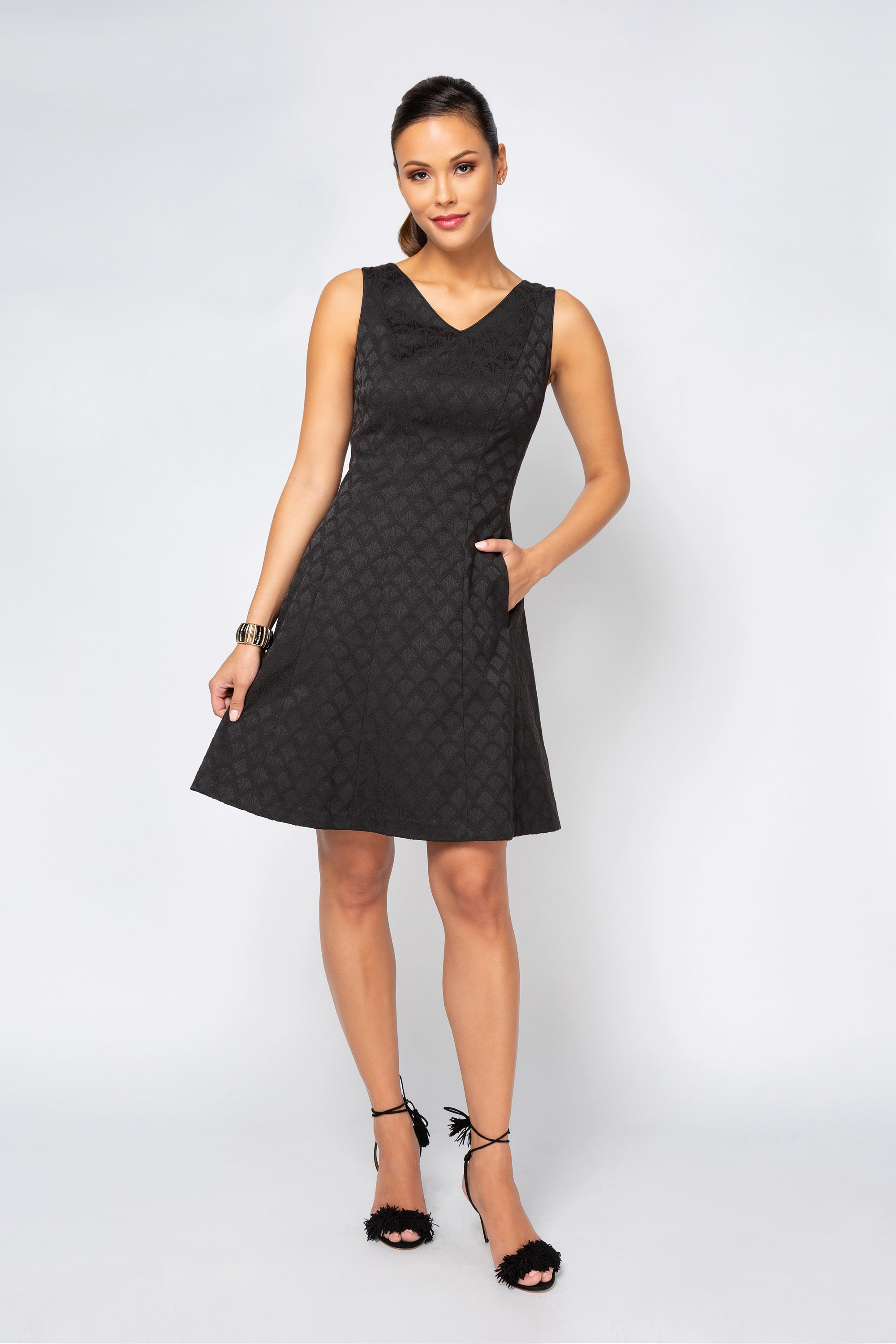 Women's Samantha Dress in Black | Nora Gardner Front