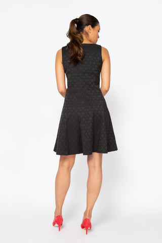 Women's Samantha Dress in Black | Nora Gardner Back