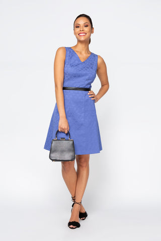 Women's Samantha Dress in Periwinkle | Nora Gardner Front
