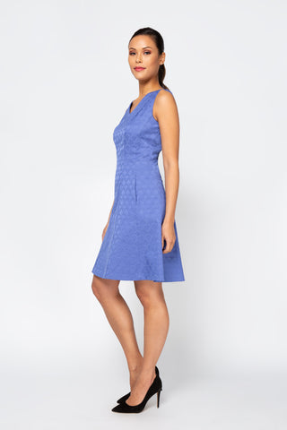 Women's Samantha Dress in Periwinkle | Nora Gardner  Side