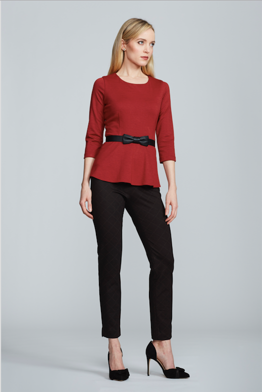 Kelly Top with Sleeves - Red Ochre