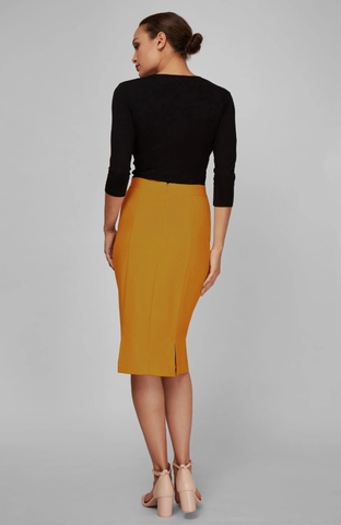 Rita Skirt Marigold Back