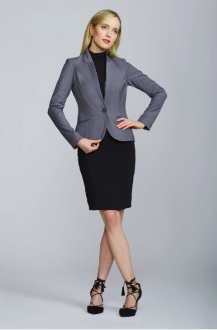Alanna Blazer - Light Charcoal