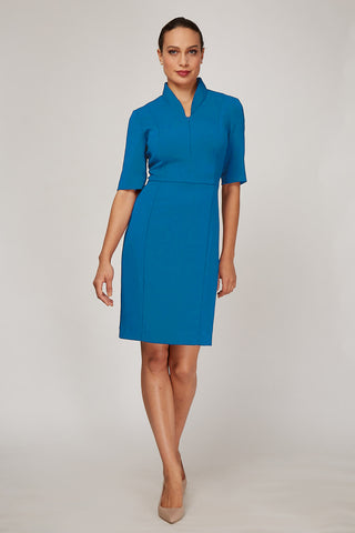 Sleeved Evelyn Dress - Peacock