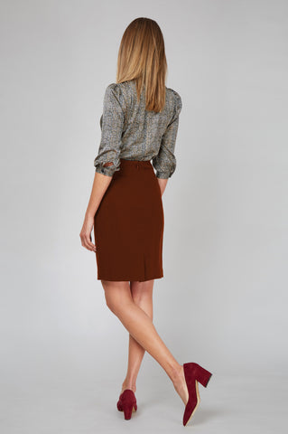 Chelsea Skirt - Red Ochre
