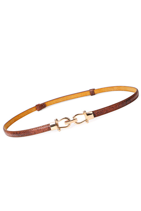 Women's Ideal Smart Belt in Brown Leather | Nora Gardner