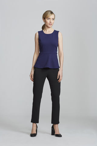 Women's Kelly Top in Navy | Nora Gardner Front