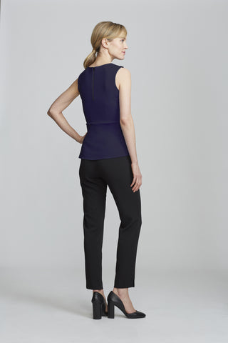 Women's Kelly Top in Navy | Nora Gardner Back