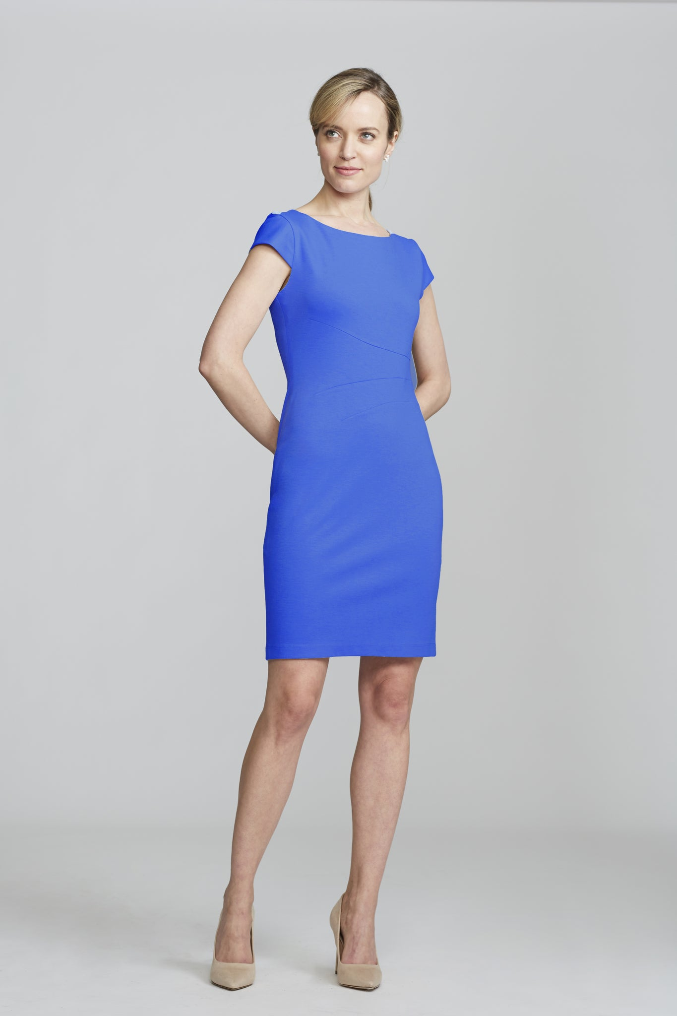 Women's Verana Dress in Lapis Blue | Nora Gardner Front