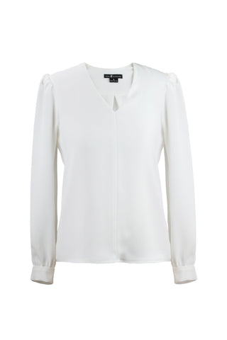 Women's Lola Top in Cream | Nora Gardner Front