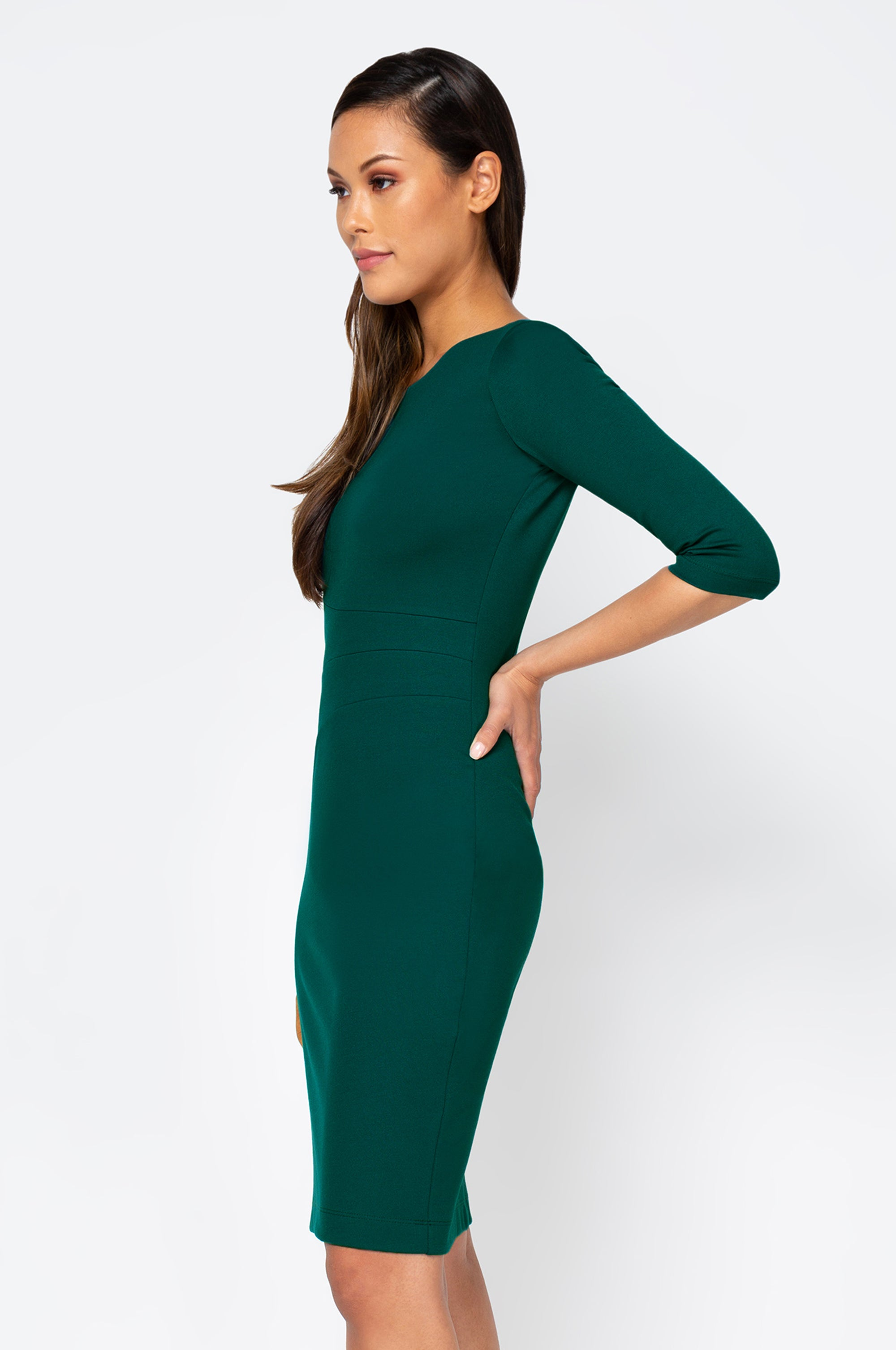 Women's Lydia Dress in Mallard Green | Nora Gardner Side