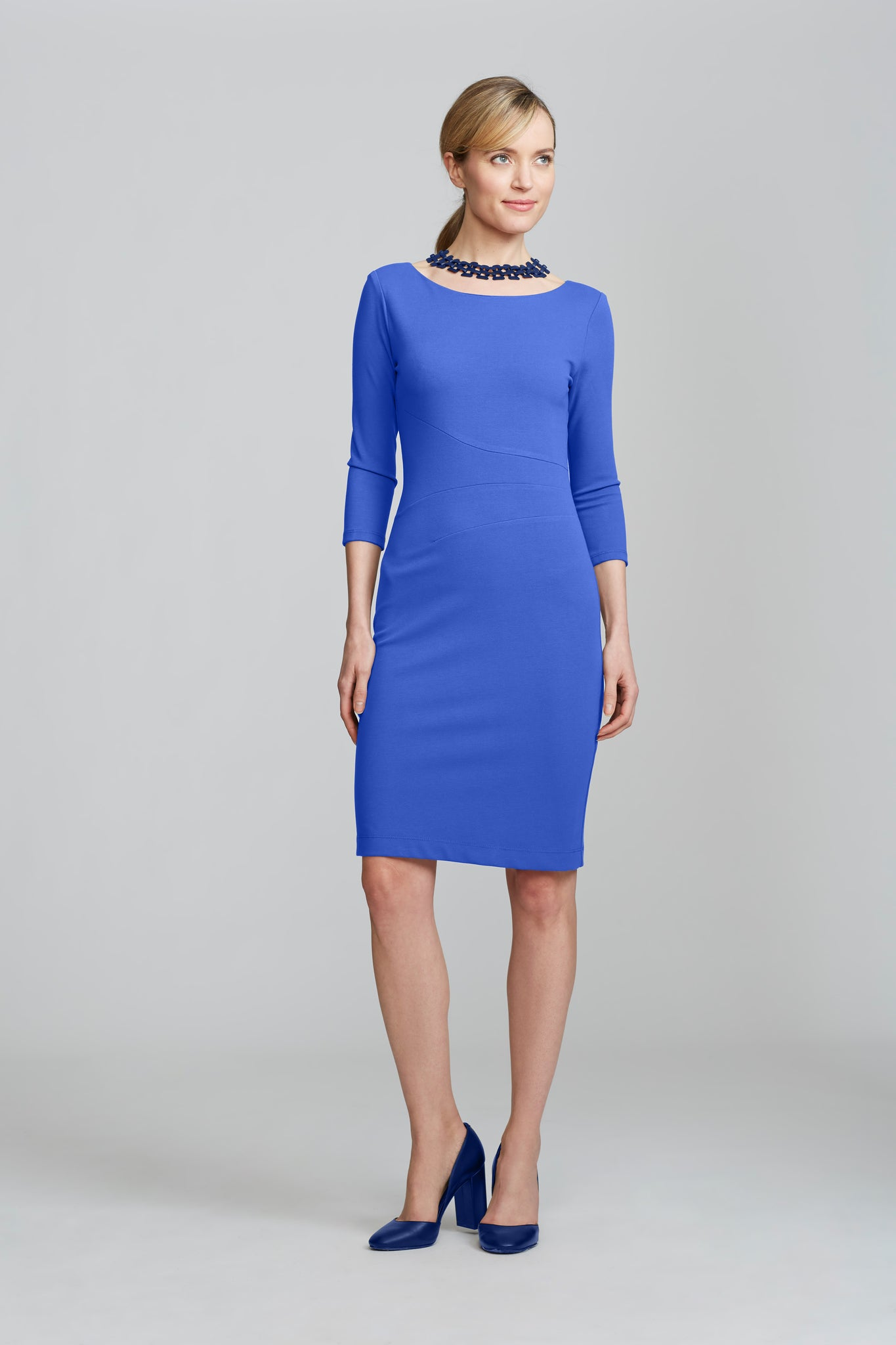Women's Lydia Dress in Lapis Blue | Nora Gardner Front