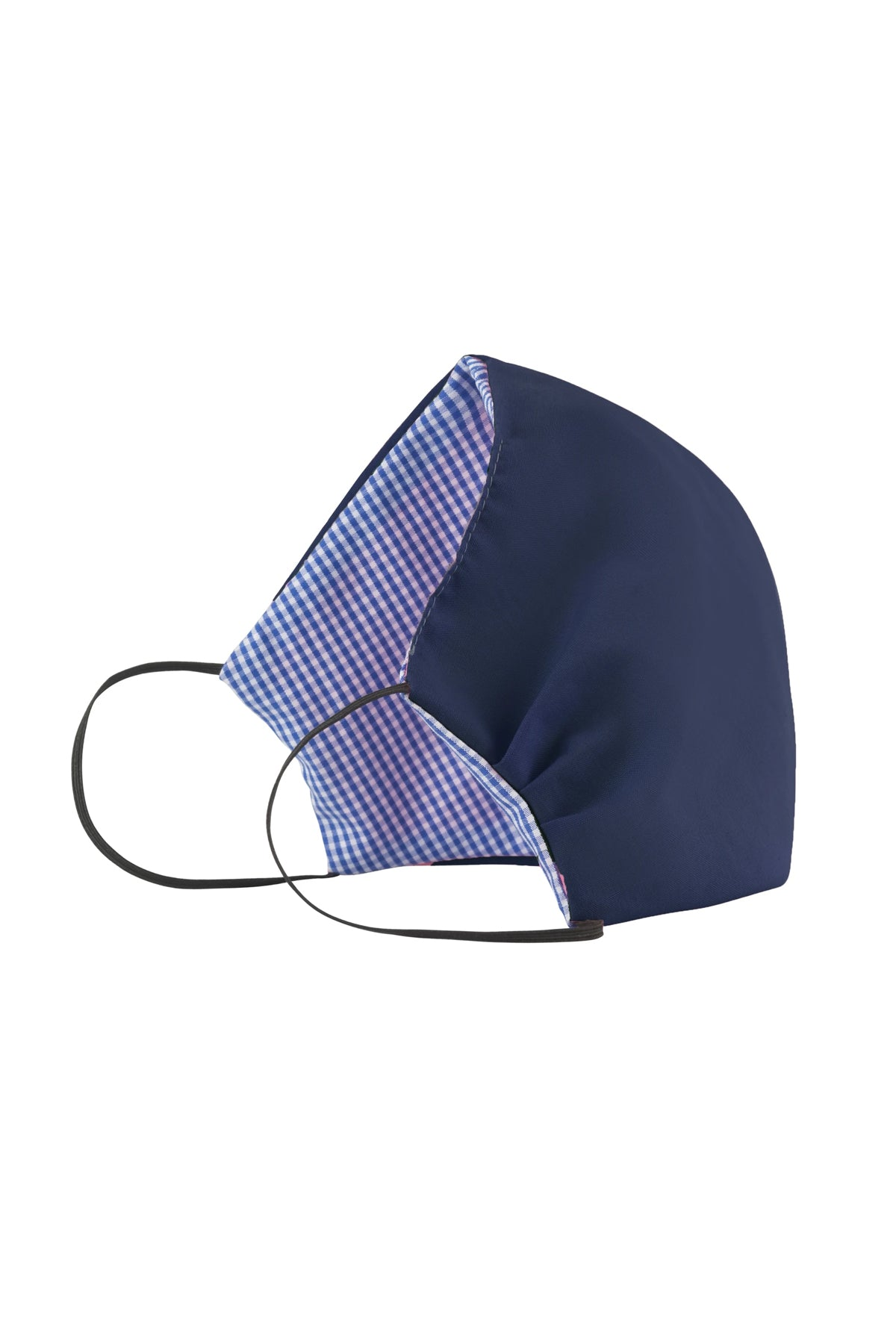 Face Mask - Navy with Checks
