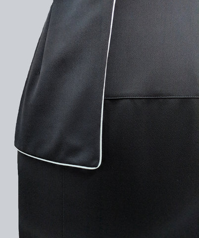 Women's Anina Peplum Dress in Black | Nora Gardner -  Detail