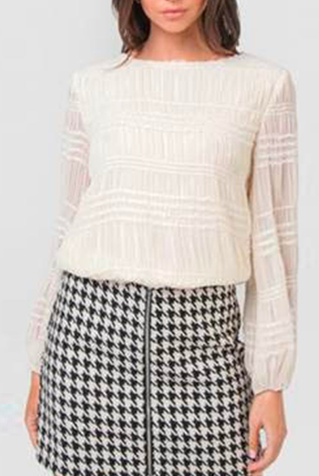 Textured Top - Ivory
