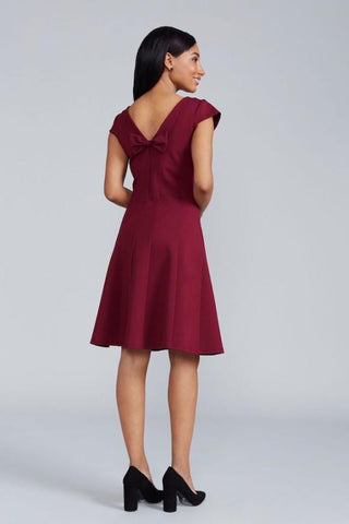 Chloe Dress - Merlot