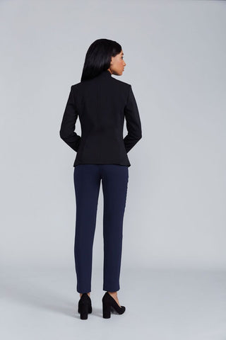Women's Audrey Work Pant in Navy | Nora Gardner - Back