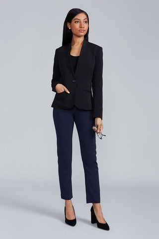 Women's Audrey Work Pant in Navy | Nora Gardner - Front