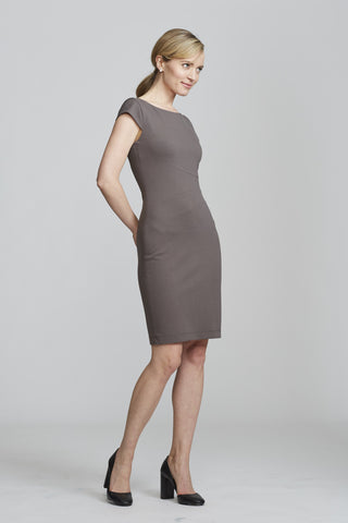 Verana Dress in Slate for Professional Women | Nora Gardner (side)