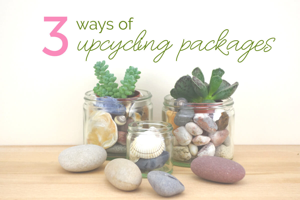 3 ways of upcycling packaging