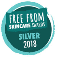 Free From Skincare Awards 2018 silver awards
