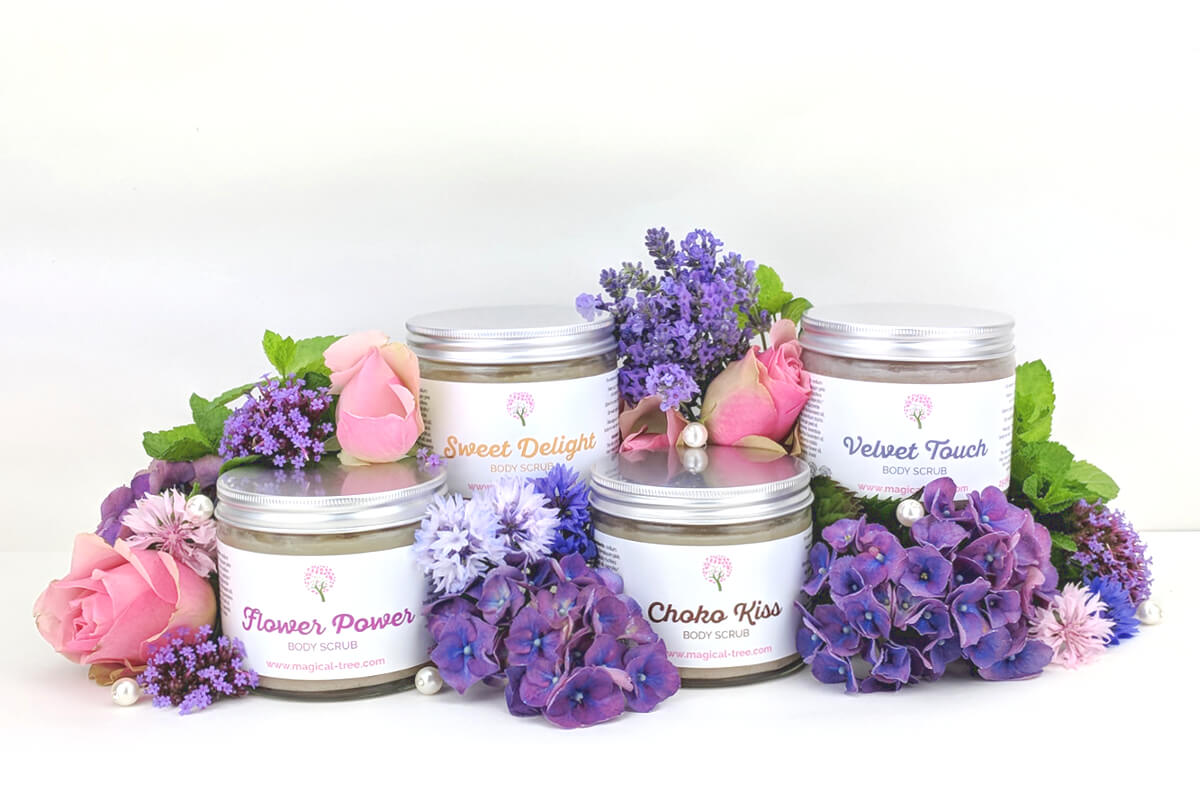 New natural body scrubs from Magical Tree