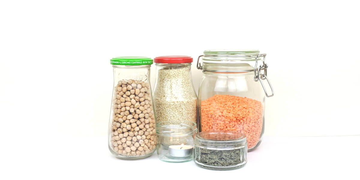 Reuse food jars