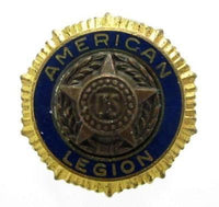 Signed Bb.Co Vintage American Legion Star Gold Tone Men'S Button Hole Pin Screw - Jewel Eureka
