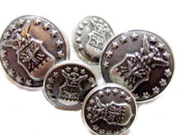 13 Stars Eagle Crest Silver Tn Vintage 15 22Mm Metal Cheshire Buttons Lot*S570 - Jewel Eureka