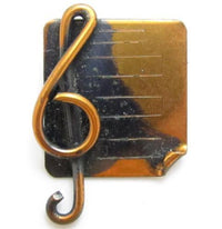 Treble Clef Sheet Music Vintage Small Copper Brooch Pin*Figural*Jewelry*508D - Jewel Eureka