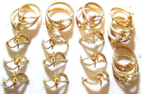 20pc New Old Stock 14k GE ESPO Pearl, Gemstone, Rhinestone Vintage Assorted Gold Plated Stunning Ring SETTINGS Jewerly Lot*Easy Repair*A277 - Jewel Eureka