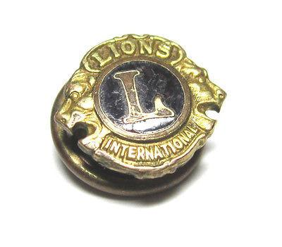 Vintage Gold Toned Screw On Pin Shirt Stud Lions International Mens Jewelry G409 - Jewel Eureka
