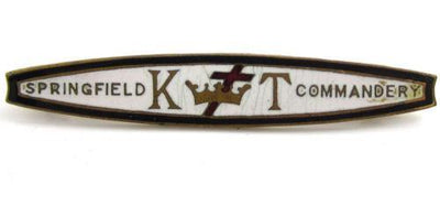 K Of T Knights Templar Vintage Gold Tn Springfield Commandery Brooch Pin*Y363