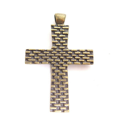 VINTAGE RELIGIOUS CHRISTIAN CROSS PENDANT 4 NECKLACE LOT*U PICK*GOLD SILVER*A822