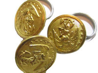 Vintage 11Mm Military Navy Gold Toned Waterbury Button Co Metal Buttons Lot*S638 - Jewel Eureka