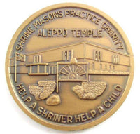 Vintage Golden Shrine Masons Practice Charity Aleppo Temple Coin Token*Y349 - Jewel Eureka