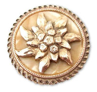Flower Design Celluloid Back Gold Toned Vintage Signed W.Germany Scarf Clip*912D - Jewel Eureka
