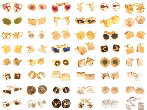 Vintage Cufflinks Men's Jewelry Lot*U-Pick*Groom*Formal Wear*Enamel*Gemstone ++