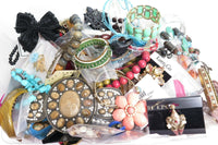 153pcs Huge Jewelry Lot*7lb2oz Pounds*Lbs*Rhinestones*Wear*Resale*Fashion A961