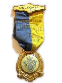 1912 Delegate Ct Grand Lodge O Of V Swedish Order Of Vasa Ribbon Badge Pin*D570 - Jewel Eureka