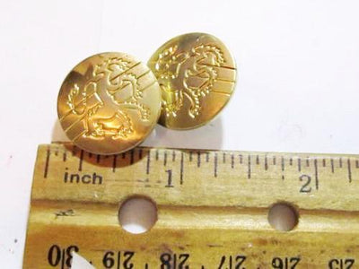 Lion Buttons*Vintage 20Mm Engraved Royal Animal Gold Toned Nice  Metal*Coat*S672