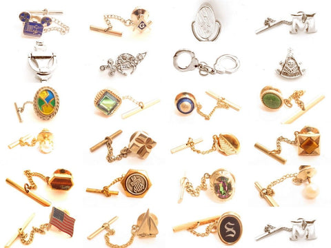 Vintage Tie Tack Pin*U PICK*Jewelry Lot*Wedding Formal Wear*Men's*Chain*A872