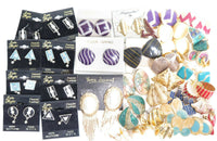 Vintage Lot 35 Pairs Retro 1980's EARRINGS Jewelry Lot*Some New Old Stock A931