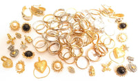 Huge Vintage 84pc Jewelry Lot ESPOSITO Old Stock Gold Plated Rings 14K GE ESPO
