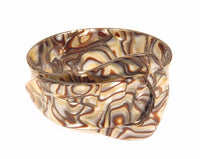 Art Deco Celluloid Buckle Bangle Faux Abalone Stunning Wide Vintage Bracelet*E824 - Jewel Eureka