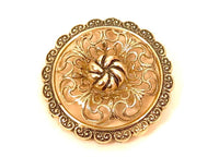 Western Germany Gold Toned Filigree Floral Vintage Signed Pretty Scarf Clip*F53 - Jewel Eureka