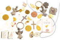 Christian Vintage Jesus & Saints Prayer Medals, Charms, Pins Jewelry Lot *Y608 - Jewel Eureka