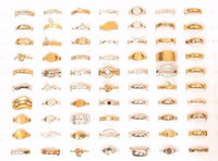 73pcs Vintage Esposito Rings Lot*14KGE White & Yellow Gold Plated Jewelry*A358 - Jewel Eureka